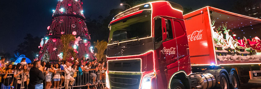 caravana natal coca-cola