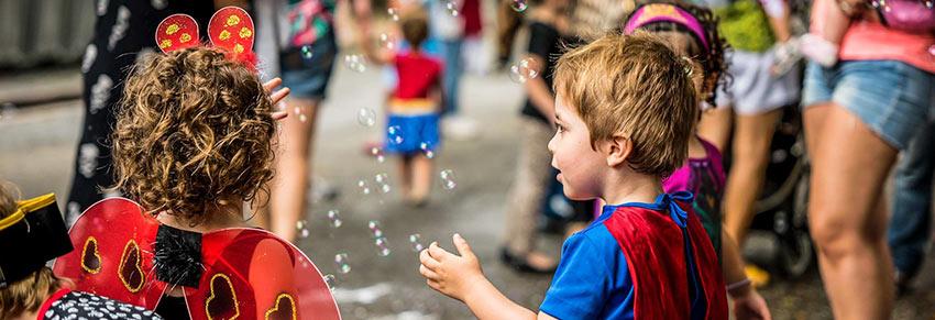 carnaval com crianças