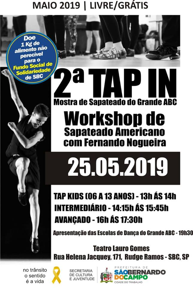 Workshop sapateado infantil no Portal Vipzinho