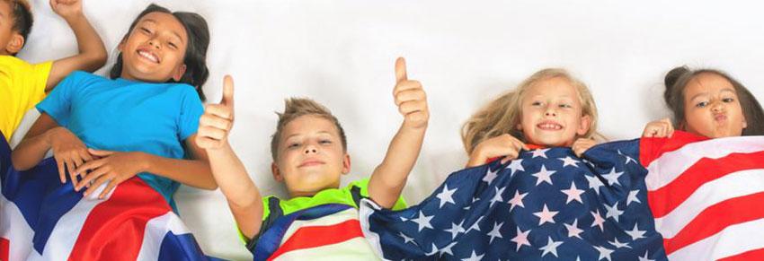 bandeira estados unidos crianças