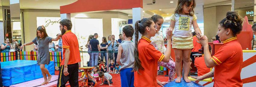 oficina de circo para crianças no shopping diadema no vipzinho