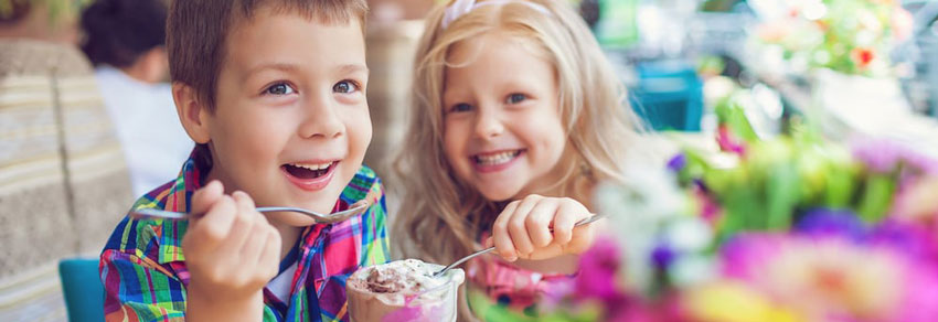 sorvete crianças