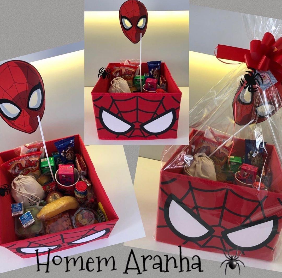 cestas do Homem-Aranha no vipzinho