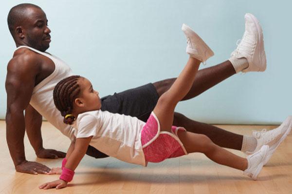 atividades físicas com os filhos no vipzinho