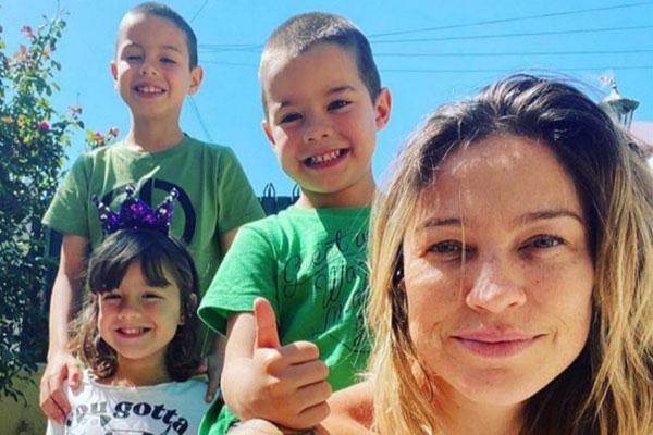 luana piovani com os filhos no vipzinho