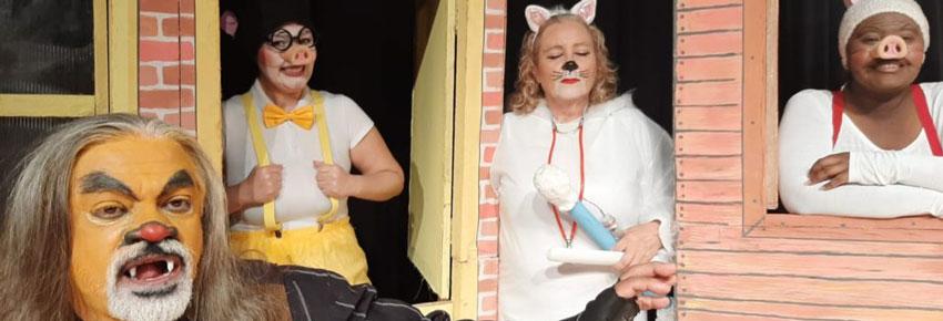 os 3 porquinhos no teatro com vipzinho