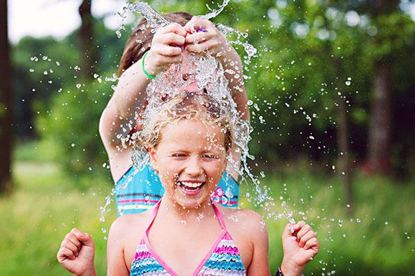 brincadeira com água para o verão no vipzinho