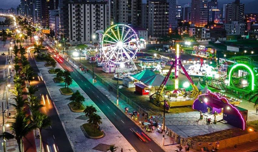 parque de diversões na praia grande com vipzinho