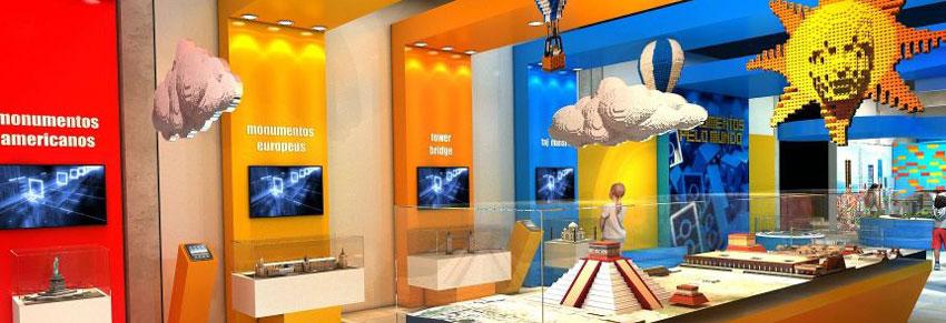 museu com exposição do LEGO no vipzinho